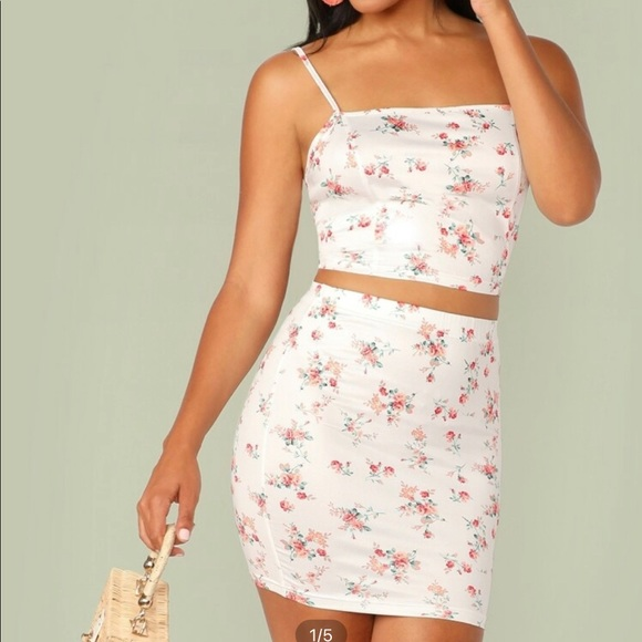 Flowery Skirt set